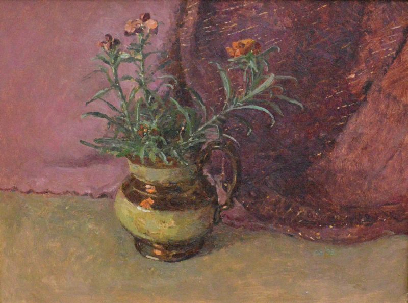 9. Wallflowers in a Lustre Jug